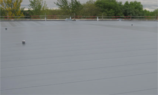 Black single ply flat roofing